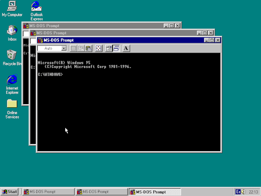Finestres de Windows 95