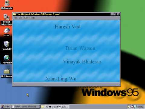 Easter Eggs Windows 95